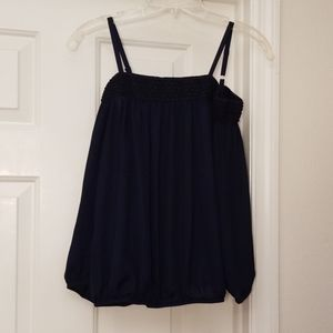 By & By Navy Blue Off Shoulder Blouse S